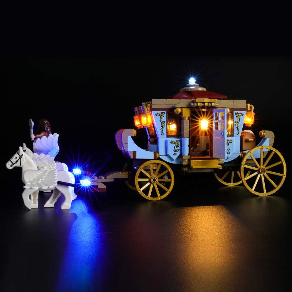 BRIKSMAX Kit de Iluminación Led para Lego Harry Potter Carruaje de Beauxbatons: Llegada a Hogwarts,Compatible con Ladrillos de Construcción Lego Modelo 75958, Juego de Legos no Incluido