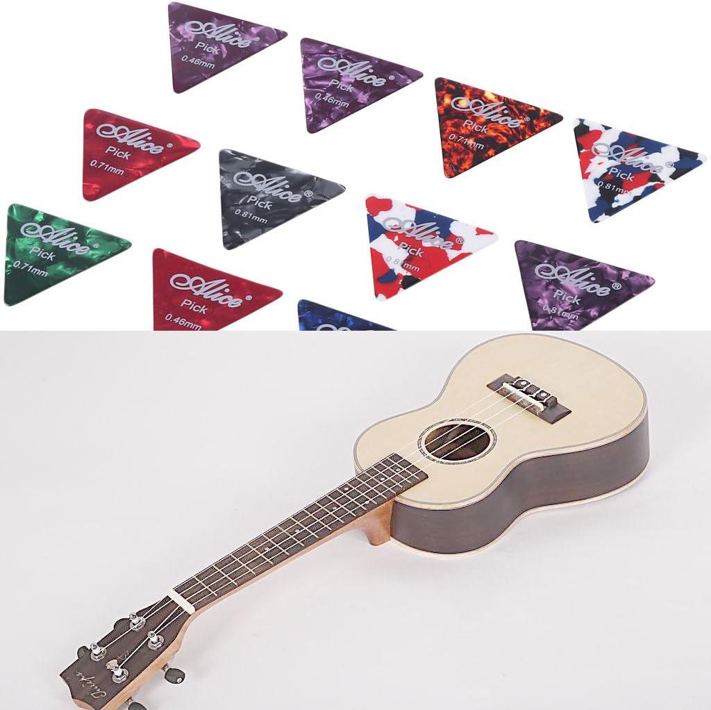 ulkeme 12 celuloide púas para guitarra presentadas Big púa de ...