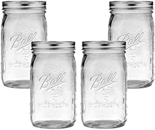 product image for Ball Mason Jar-32 oz. Clear Glass Wide Mouth - Set of 4