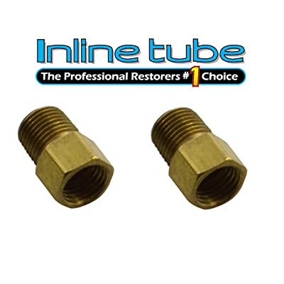1/8 NPT Male 3/8-24 Inverted Flare Brake Line Adapter Brass Residual Valve 2pack (E 10 13): Automotive