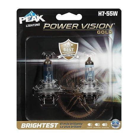Amazon.com: PEAK Power Vision Gold Automotive Performance Headlamp, H7 55W, 2 Pack: Automotive