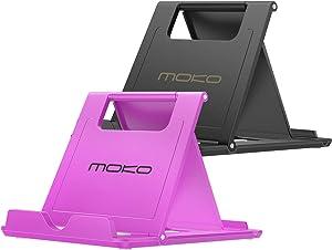 MoKo [2 Pack Phone/Tablet Stand, Foldable Desktop Holder for 4-11