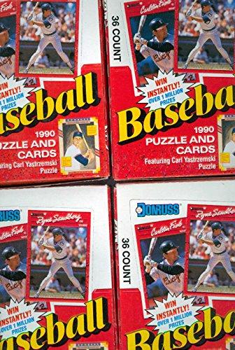 4x 1990 Donruss Baseball Collection Wax Pack Box Set Sammy Sosa Rookie Card RC