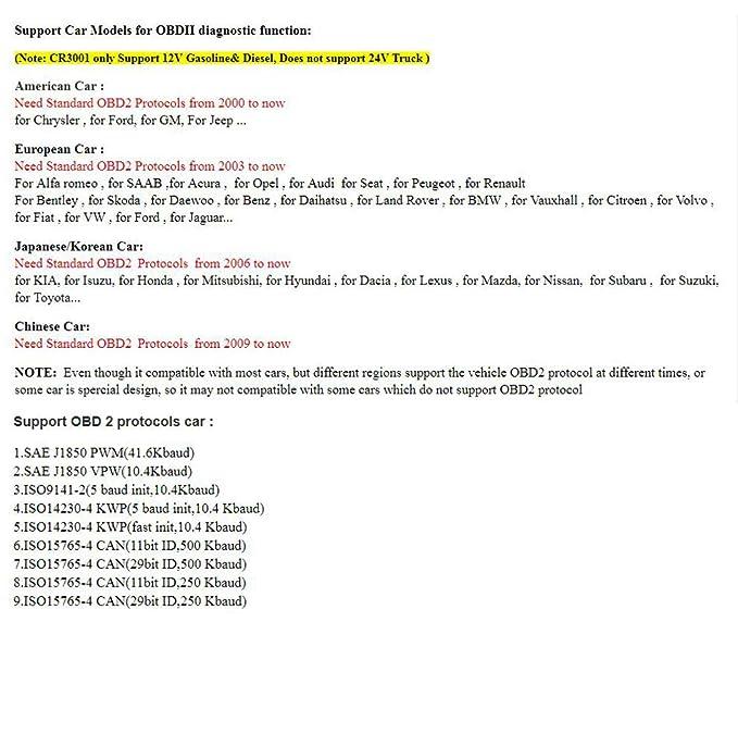 LAUNCH X431 Creader 3001 Full OBD2 OBDII Code Reader Scan Tools
