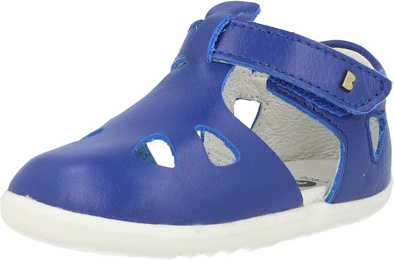 Bobux Step-Up Zap Azul Blueberry Cuero Infantil Pescador Sandalias