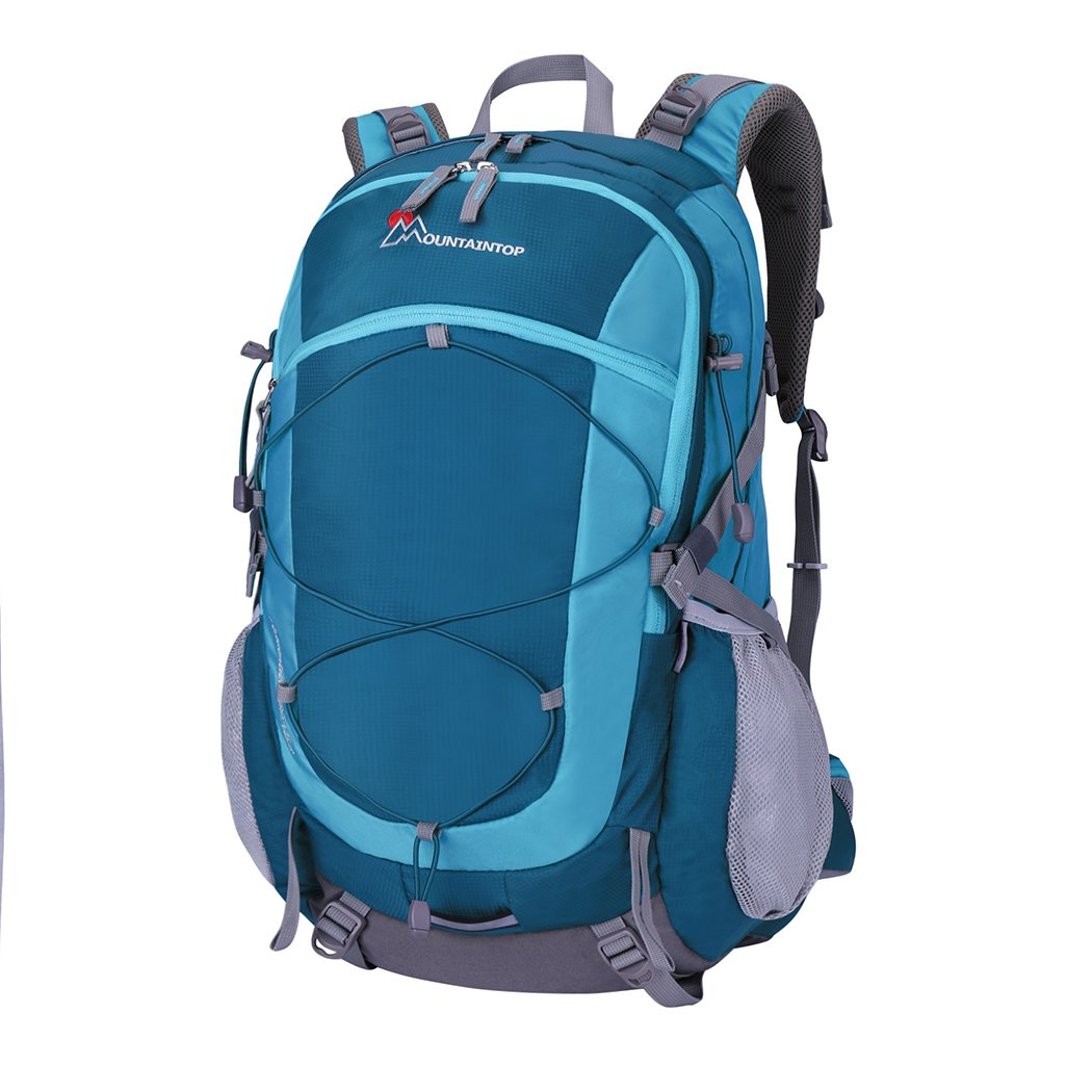 Mountaintop 40 Liter Unisex Hiking/Camping Backpack (Dark green)