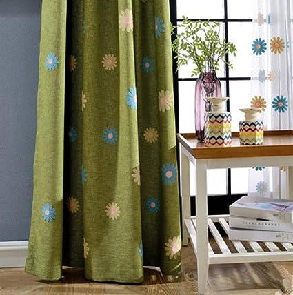 Panno ricamato tende e tendaggi lino lino colore intenso Lnsulation ...