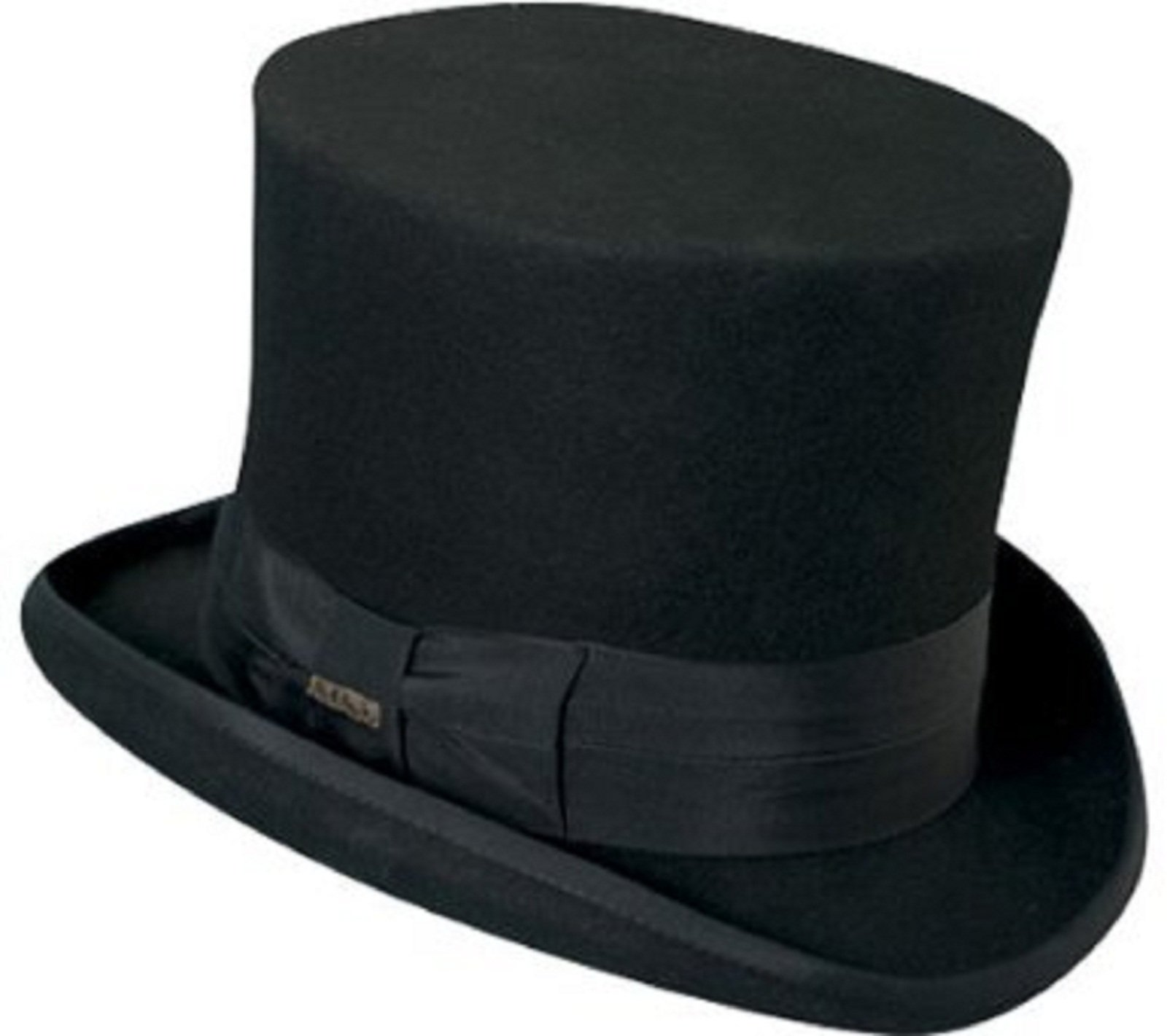 Victorian Classico Scala Mad Hatter 100% Wool Top Hat Black LARGE