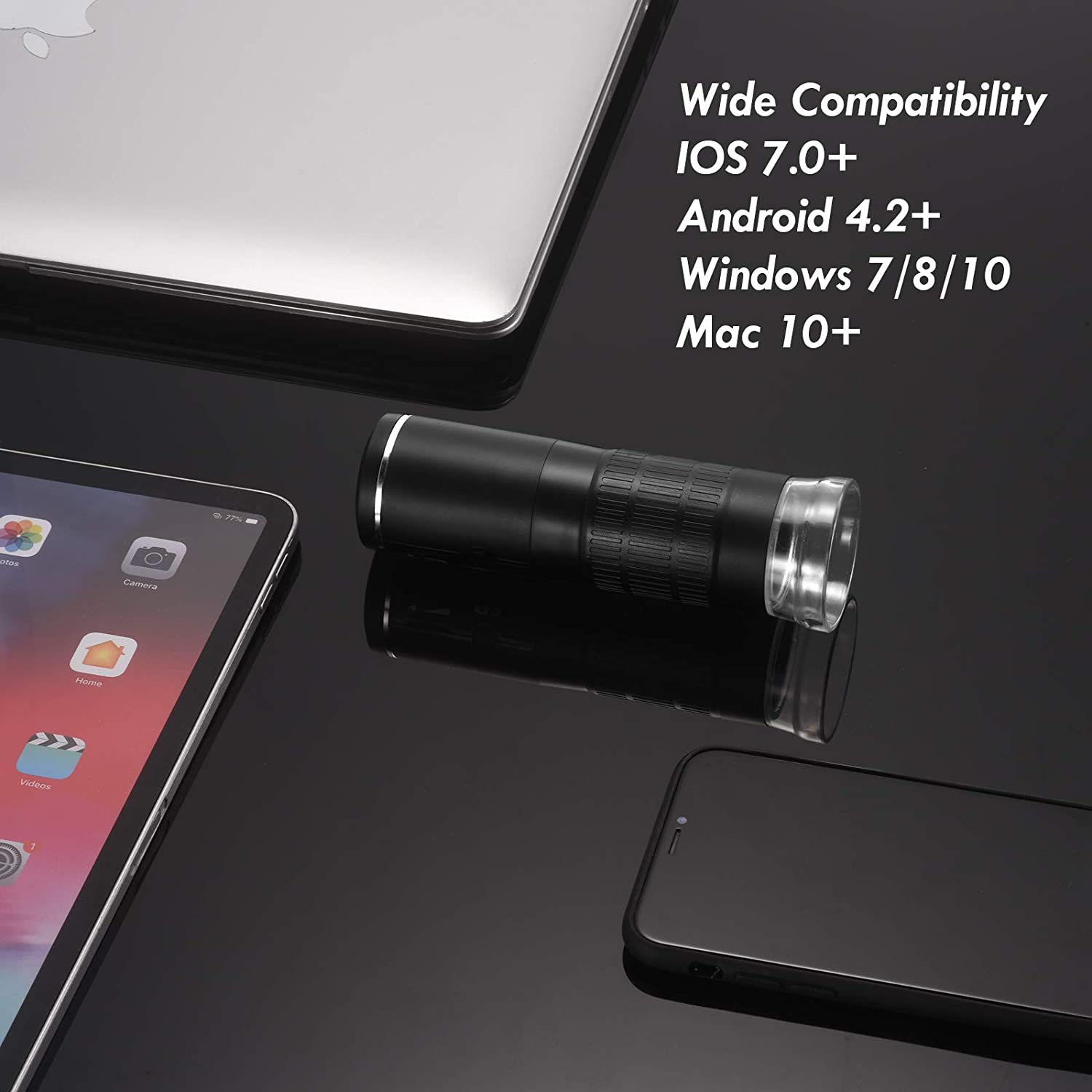 iPad Mini Pocket Microscope for Kids and Adults Android Phone ...