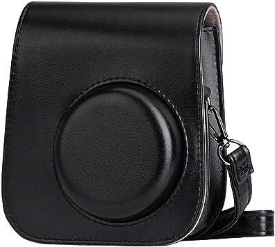 Black) Blummy PU Leather Camera Case for Fujifilm Instax Mini 11// Mini 9// Mini 8 Instant Camera with Adjustable Strap and Pocket