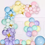 NPLUX Pastel Latex Balloons 185 Pcs Assorted Macaron Balloons Garland Kit for Baby Shower Wedding Birthday Party…