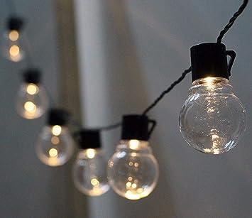 Amazoncom Solar Globe Bulb Lights Wonfast Outdoor Waterproof 10