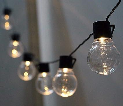 Amazon.com : Solar Globe Bulb Lights, WONFAST Outdoor Waterproof 10 LED  Clear Plastic Solar Powered Christmas Bulbs Lights, 2 Modes Village Holiday  ... - Amazon.com : Solar Globe Bulb Lights, WONFAST Outdoor Waterproof 10