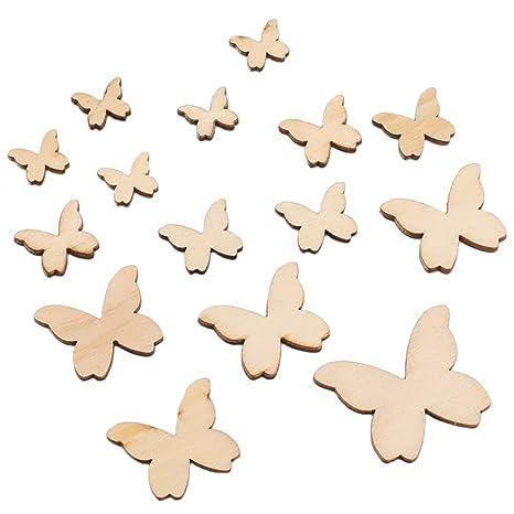 Natürliche Holzfarbe Schmetterling Form Holz Handwerk Dekoration Scrapbooking
