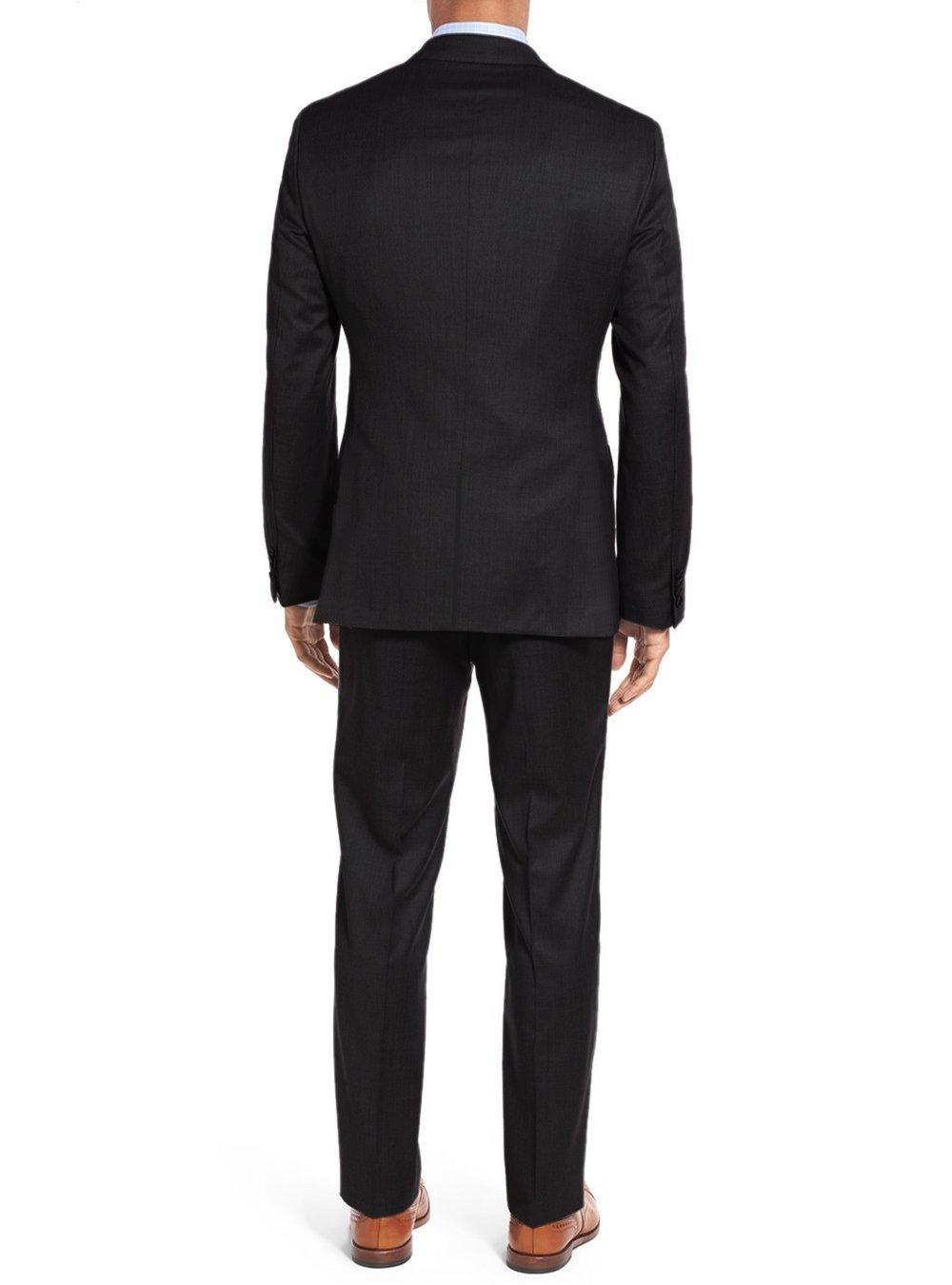 Salvatore Exte Men's 3-piece Suit Set Two Button Blazer Jacket Pants Tux Vest (40 Short US / 50S EU / W 34'', Black) by Salvatore Exte (Image #2)