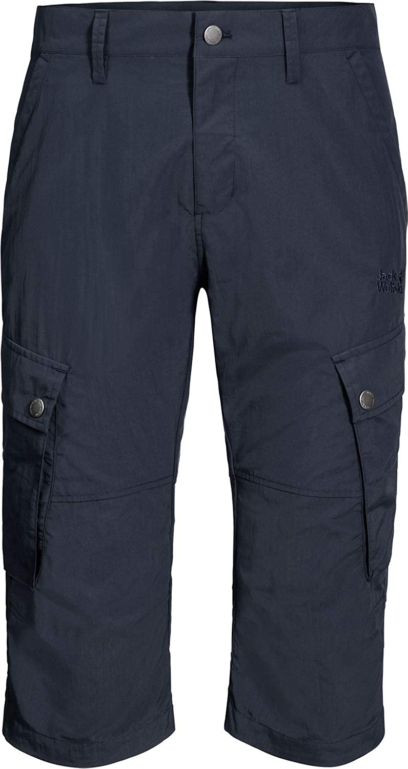 Jack Wolfskin Herren Desert Valley 3 4 Hose night Blau