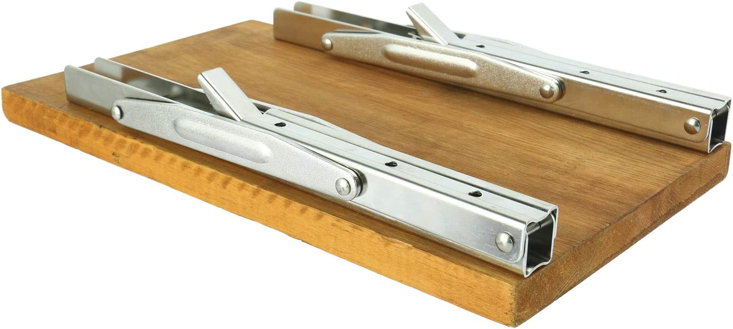 FreeTec Soporte de pared plegable de acero inoxidable pulido para mesas capacidad de carga: 250 kg bancos y estanter/ías