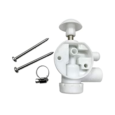 Exerock 385314349 Water Valve Assembly Replacement Toilet Repair Kit Fit for Sealand EcoVac Vacuflush Pedal Flush Toilets Replacement for Most Dometic Foot Pedal Toilets: Automotive