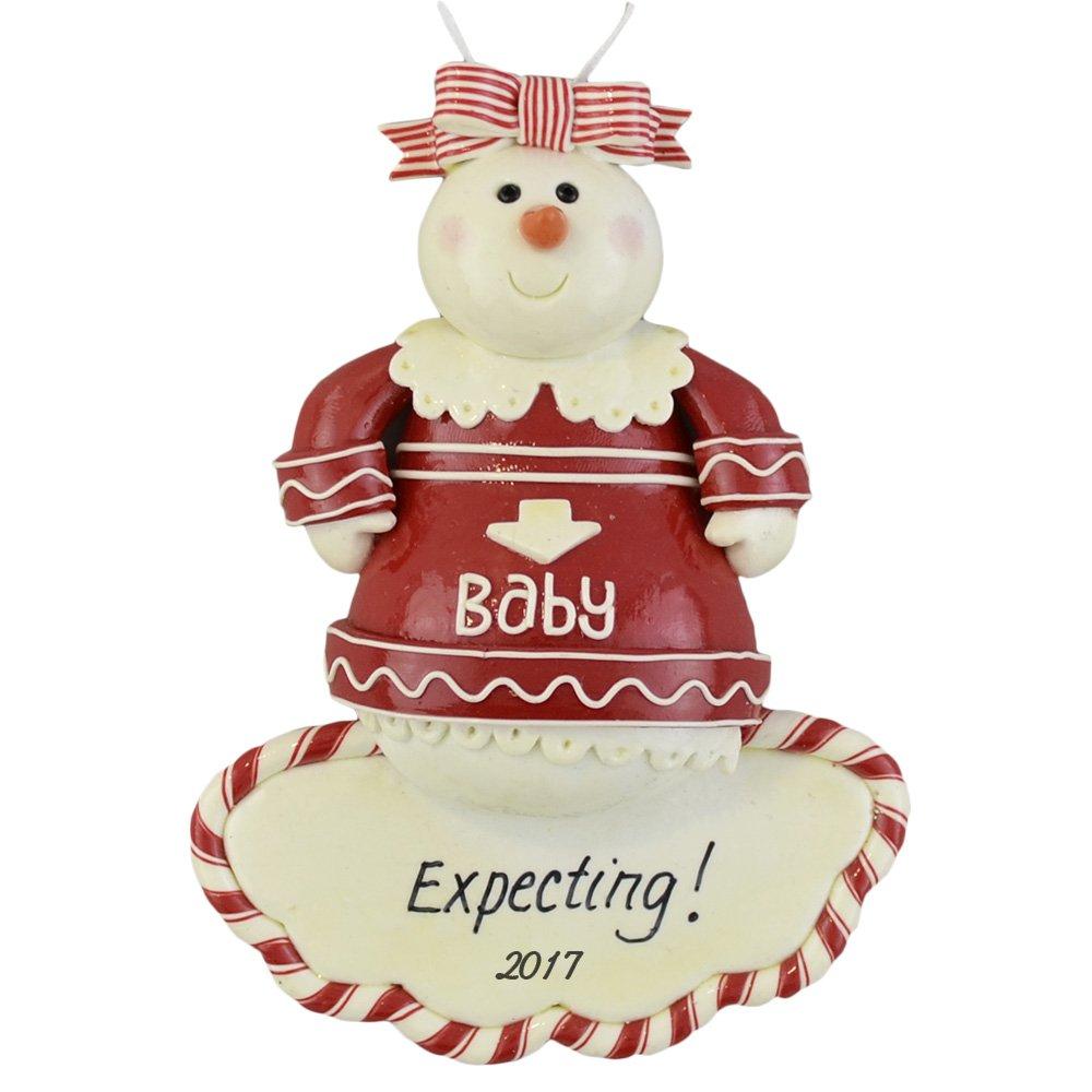 Amazon: Expecting Mothertobe Personalized Christmas Ornament   Celebrate Pregnancy  Calliope Designs  5