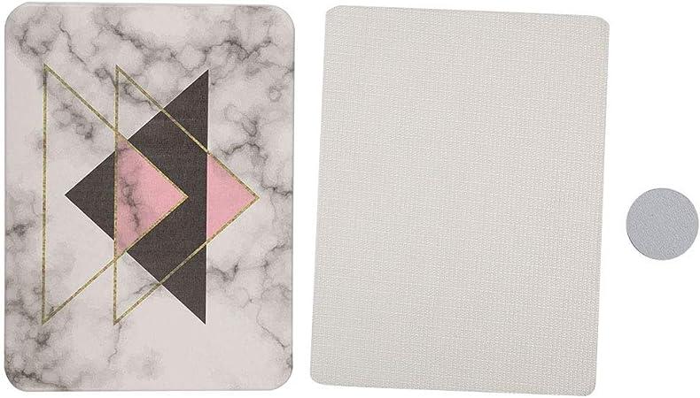 Bath Mat Happy Feet Design,Fast Dry Memory Foam Striped Soft Anti Slip Non