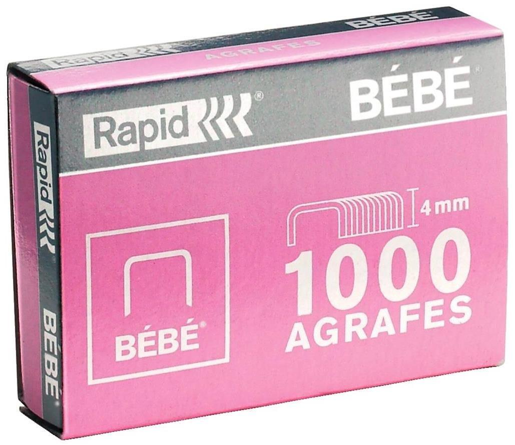 RAPID Boîte Rose Pack Lot de 1000 Agrafes Bébé cuivrées