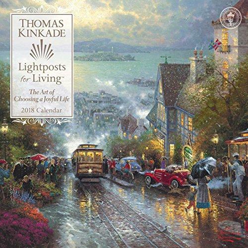 Thomas Kinkade Lightposts for Living 2018 Wall