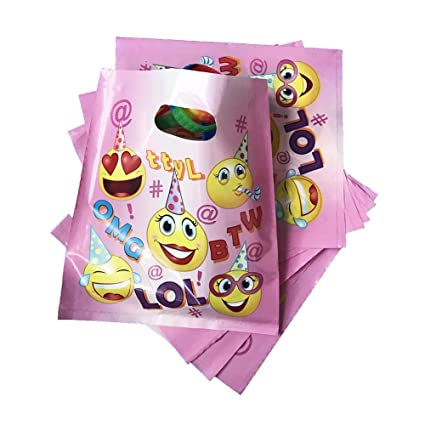 Amazon Pink Emoji Treat Bags For Girls Birthday Party Favors