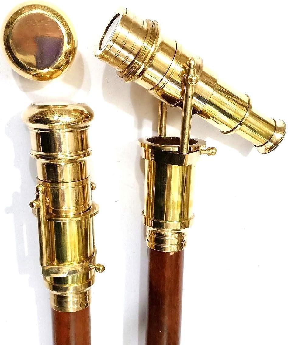Details about  /Antique Solid Brass Head Handle Vintage Victorian Wooden Walking Stick