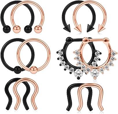 Amazon.com: SCERRING 6 – 12 piezas 16 G 316L acero ...
