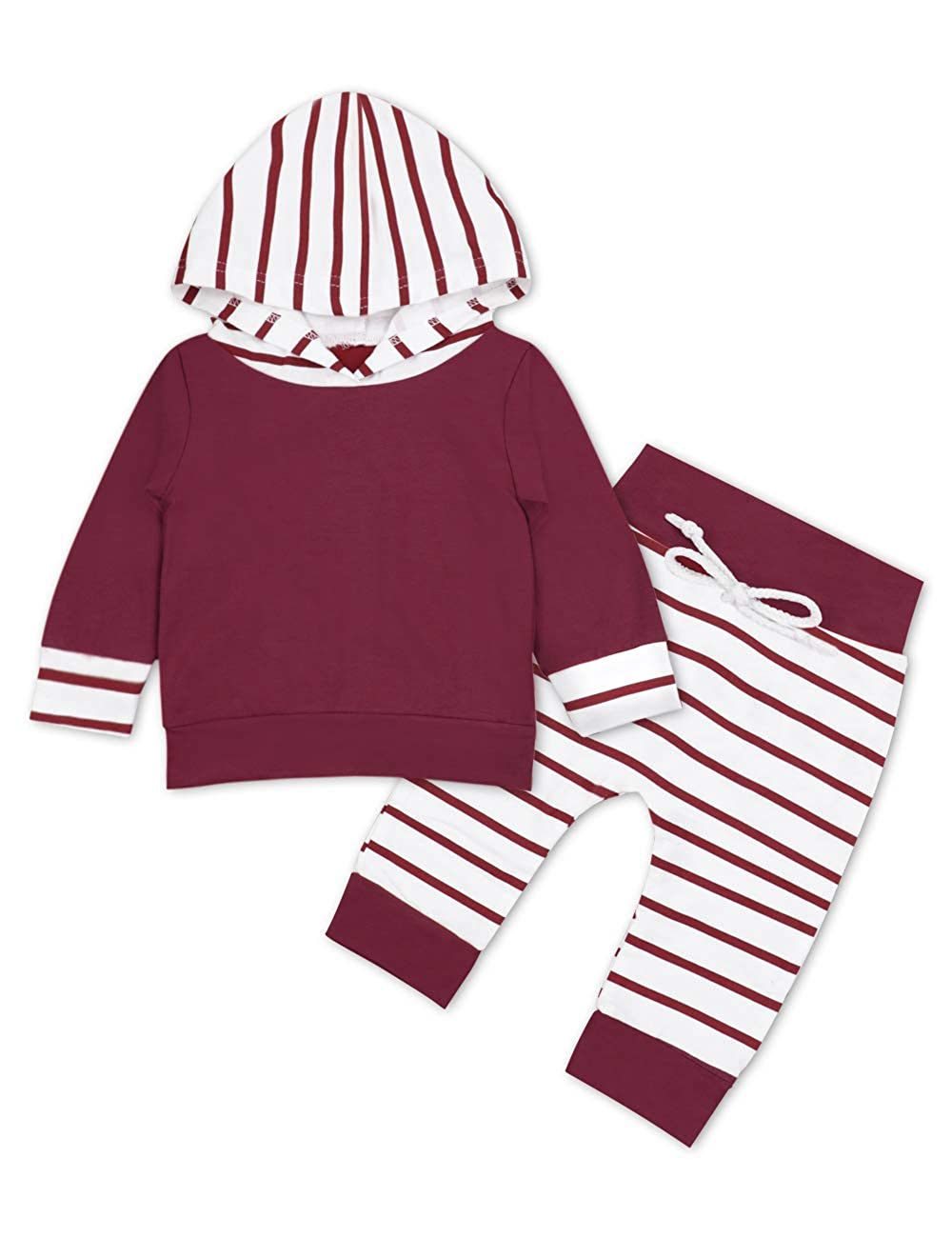 Baby Girl Clothes Long Sleeve Hoodie Sweatshirt Floral Pants with Headband Outfit Sets OKGIRL