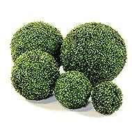 "Blaak Penny Decorative Balls (5 Balls, 11"", 8"", 7"", 6"", 4"" Boxwood)"