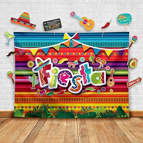 Fiesta Backdrop - Summer Fiesta Theme Photography Backdrop and