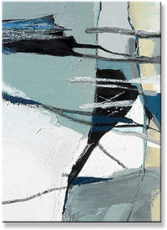 dubdubd Estilo Abstracto Color Claro Pintura al óleo sobre Lienzo Arte de la Pared póster para Sala de Estar Dormitorio Imprimir en Lienzo-60x80cm Sin Marco