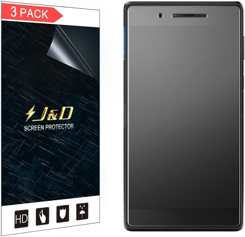 J&D Compatible for 3-Pack Lenovo Tab 7 Essential Tablet Screen Protector, [Anti-Glare] [Anti-Fingerprint] Matte Film Shield Screen Protector for Lenovo Tab 7 Essential Tablet Matte Screen Protector