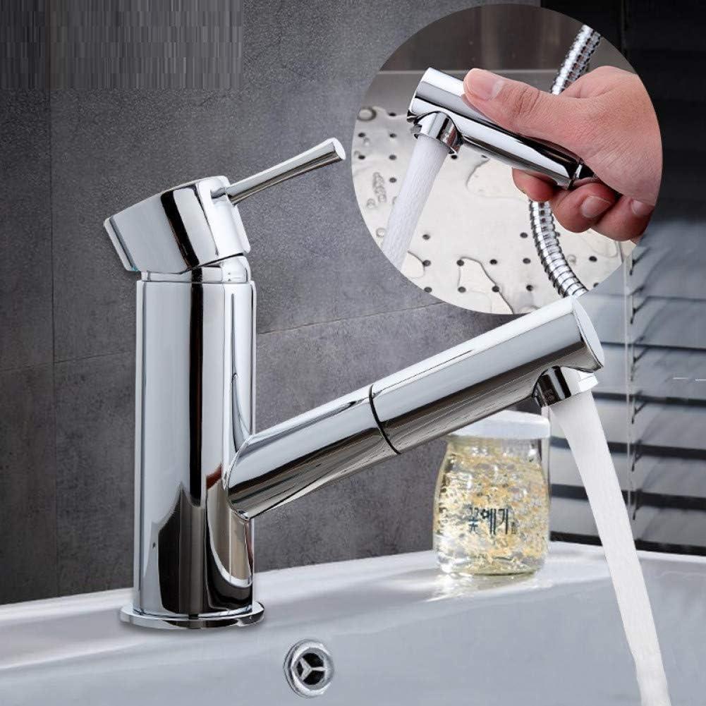 Grifo del grifo Extractor del lavabo Grifo del lavabo Grifo del fregadero Grifo del agua Grifos del mezclador de agua cromada Grifo del grifo del baño