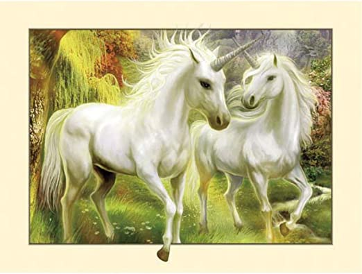 5D Diamond Painting Horse Cross Stitch Craft Embroidery Painting Wall Decor UK