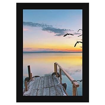 Amazon.com - 11 3/4 x 16 1/2 Black Frame - Wood MDF with 1 1/4 inch ...