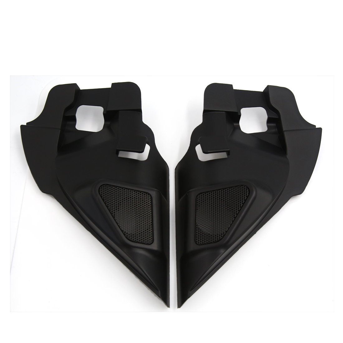 uxcell 2 Pcs Black Plastic Car Horn trumpet Dustproof Cover for 2014 Nissan X-Trail
