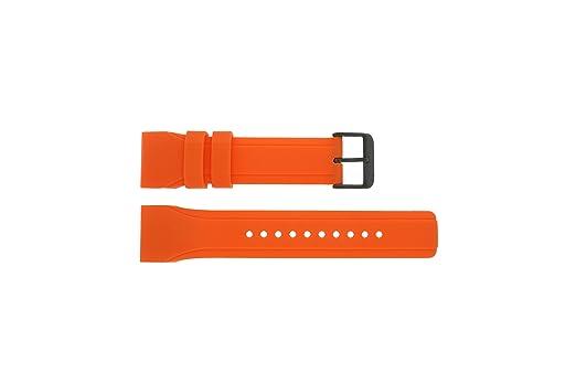 new photos multiple colors uk store Pulsar Bracelet de Montre W861-X006 en Caoutchouc Orange ...
