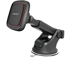 Magnetic Phone Car Mount,APPS2Car Universal Dashboard Windshield Industrial-Strength Suction Cup Car Phone Mount Holder with