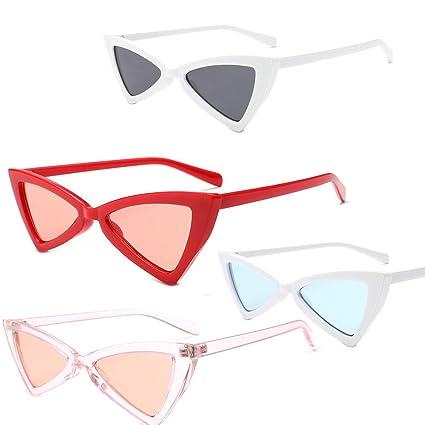 AOLVO - Gafas de Sol con diseño de Gafas de Sol de cateye y Gafas de