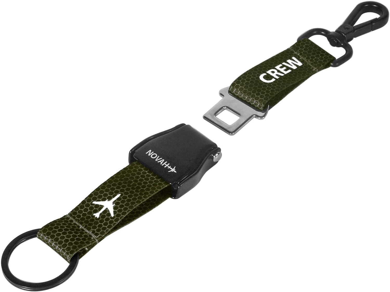 Blue-Silver Novah Aviation Buckle Keychain