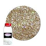 Glitter My World! Fine Glitter Cosmetic Holographic: Goldeneye 1 lb Jar