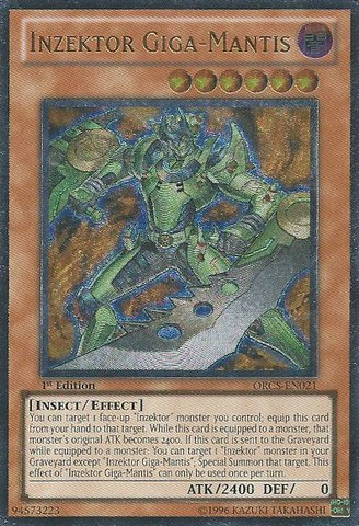 Yu-Gi-Oh! - Inzektor Giga-Mantis (ORCS-EN021) - Order of Chaos - Unlimited Edition - Ultimate Rare