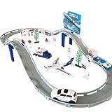 Circuit de Voiture Electrique Aéroport Playset Voiture Avion Miniature Ensemble Classique Jouet Véhicules pour Enfants