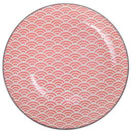 Tokyo Design Studio Starwave Dessert Plate - Small Wave - Red/Grey at Amara
