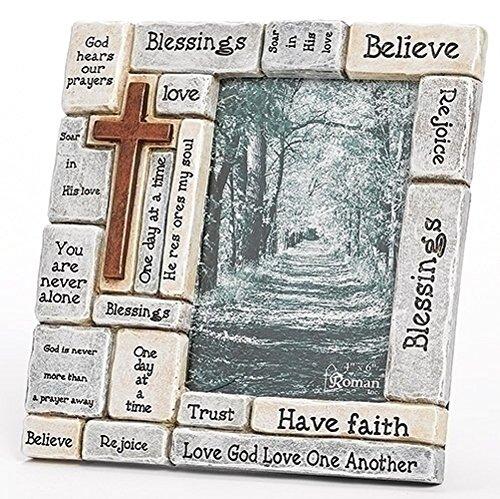 - Faith-Filled Sentiments Crossword 8 x 8.25 Resin Stone Vertical Photo Frame