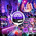 UV Black Light, SOLMORE LED Disco Ball Party Lights Strobe Light 9W Sound Activated DJ Lights Stage Lights for House Party Nightclub Karaoke Dance Wedding Birthday Bedroom Halloween Event(with Remote) by SOLMORE
