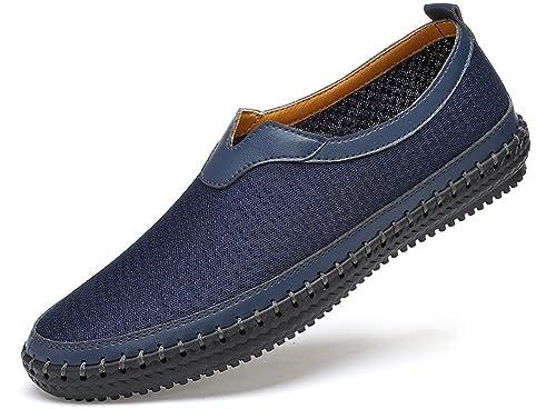 Yooeen Hombre Mujer Mocasines de Conducción Zapatos Hecho a Mano Zapatillas de Deporte de Malla Transpirable Cómodo Casual Plano Zapatos para Caminar: ...