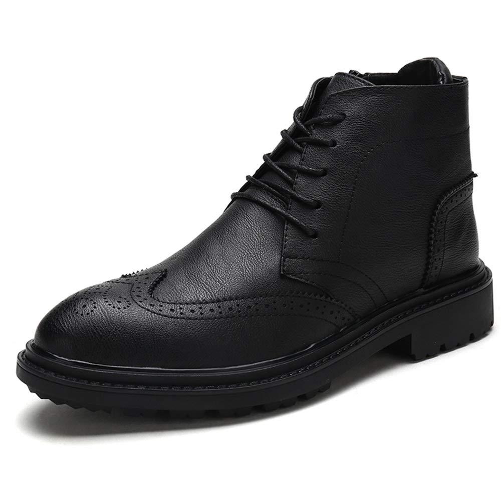 En svart manskänga manskänga manskänga med tillfällig höjd i väskaageutrymmet för svarta män, ökning av Insole Retro Brogue High Top Boot Cricket skor  spara 60% rabatt